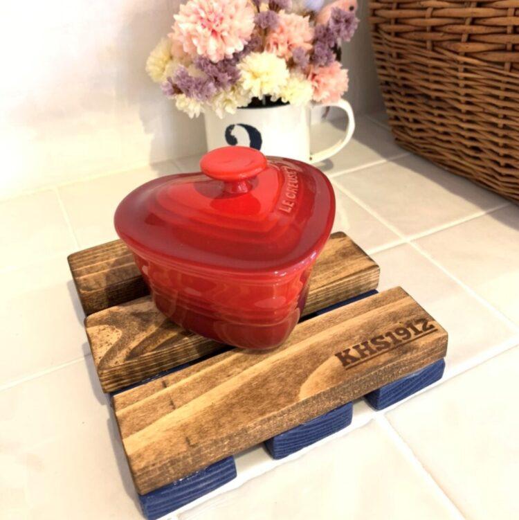 Y様 赤いハート型のかわいい食器